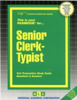 Cover image for Senior clerk-typist