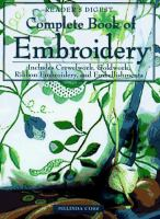 Cover image for Reader's digest complete book of embroidery