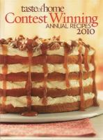 Cover image for Taste of home contest winning annual recipes.