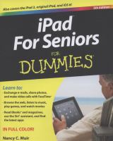Cover image for iPad for seniors for dummies