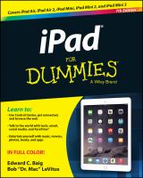 Cover image for iPad for dummies
