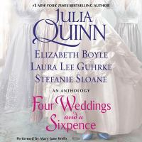 Cover image for Four weddings and a sixpence