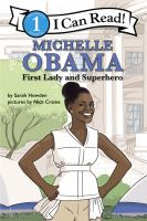 Cover image for Michelle Obama : first lady and superhero