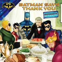 Cover image for Batman says thank you