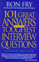 Cover image for 101 great answers to the toughest interview questions