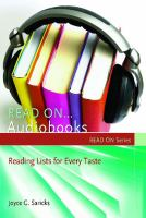 Cover image for Read On-- Audiobooks : Reading Lists for Every Taste