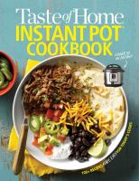 Cover image for Taste Of Home Instant Pot cookbook.