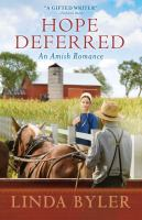 Cover image for Hope deferred : an Amish romance