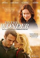 Cover image for To the wonder