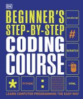 Cover image for Beginner's step-by-step coding course : learn computer programming the easy way.