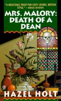 Cover image for Mrs. Mallory death of a dean