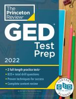 Cover image for Princeton Review GED Test Prep, 2022: Practice Tests + Review & Techniques + Online Features