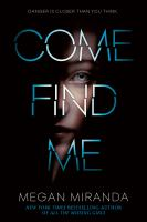 Cover image for Come find me