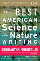Cover image for The best American science and nature writing. 2013