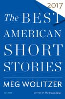 Cover image for The best American short stories 2017