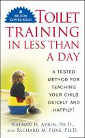 Cover image for Toilet training in less than a day