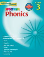 Cover image for Spectrum phonics. Grade 3.