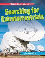 Cover image for Searching for extraterrestrials