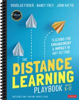 Cover image for The distance learning playbook Grades K-12 : teaching for engagement and impact in any setting