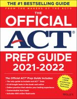 Cover image for The official ACT prep guide : the only official prep guide from the makers of the ACT