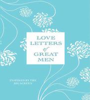 Cover image for Love letters of great men