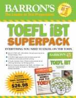 Cover image for Barron's TOEFL iBT superpack
