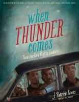 Cover image for When thunder comes : poems for civil rights leaders