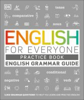 Cover image for English for everyone : practice book. English grammar guide