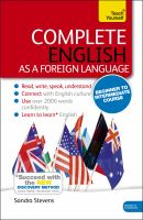 Cover image for Complete English as a foreign language