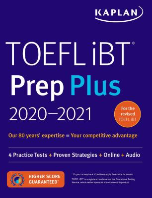 Cover image for TOEFL iBT prep plus 2020-2021.