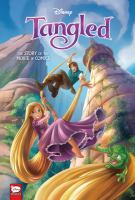 Cover image for Tangled : the story of the movie in comics.
