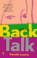 Cover image for Back talk : stories