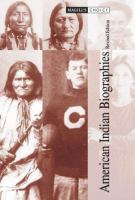 Cover image for American Indian biographies