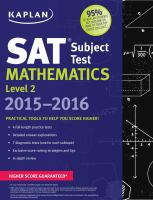 Cover image for SAT subject test : mathematics level 2.