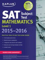 Cover image for SAT subject test : mathematics level 1.