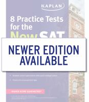 Cover image for 8 practice tests for the new SAT 2016.