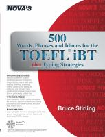 Cover image for 500 words, phrases, idioms for the TOEFL iBT plus typing strategies