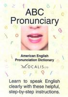 Cover image for ABC pronunciary : American English pronunciation dictionary