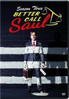 Cover image for Better call Saul. Season three