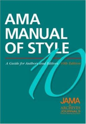 Cover image for AMA manual of style : a guide for authors and editors.