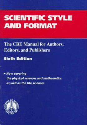 Cover image for Scientific style and format : the CBE manual for authors, editors, and publishers