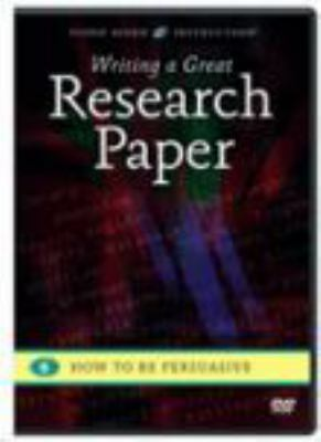 Cover image for Writing a great research paper. 6, How to be persuasive