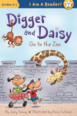 Cover image for Digger and Daisy go to the zoo