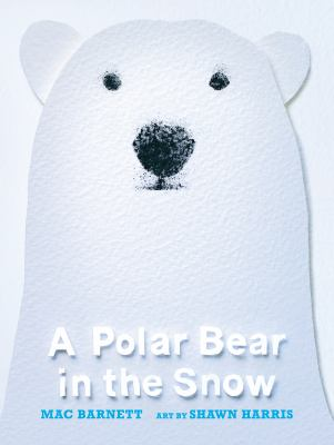 A-polar-bear-in-the-snow