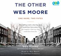 The Other Wes Moore by Wes Moore  - Book Cover