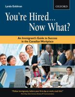 You're hired-- now what? : an immigrant's guide to success in the Canadian… cover