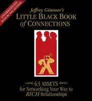 Jeffrey Gitomer's little black book of connections [sound recording]  cover