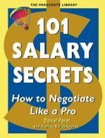 101 salary secrets : how to negotiate like a pro cover
