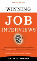Winning job interviews cover