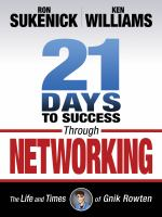 21 days to success through networking cover